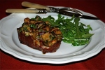 Grilled Steaks Topped with Ceps