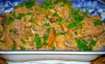 Pork Stroganoff with Three Mustards