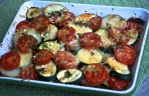 Summer Courgette and Tomato Gratin