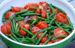 Roasted Tomato Salad with Garlicky Beans