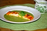 Salmon with Watercress Cream