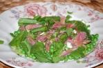 Pea, Hamhock, and Watercress Salad