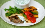 Lamb and Watercress Burgers with Chargrilled Vegetables
