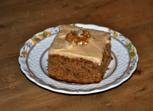 Coffee and Walnut Traybake