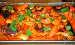 Sticky Citrus Chicken with Carrots and Cashews