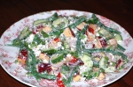 Herby Feta and Nectarine Salad with Lemon Poppy Seed Dressing