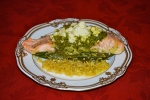 Salmon in a Foil Parcel with Pesto and Green Beans
