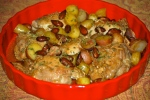 Chicken, Sherry, Almond Pot Roast
