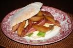 Roast Pear, Cheddar, and Bacon Sandwich