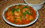 Quick Prawn, Coconut and Tomato Curry