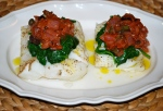 Sicilian Cod with Spinach