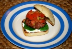 Italian Pork Burgers with Fresh Tomato Salsa