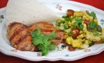Mexican-Style Pork with Corn Salsa