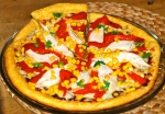 Smoking Chili Chicken and Sweetcorn Pizza