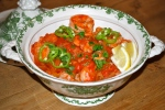 Smokey Prawns with Tomato and Coriander