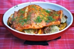 Sticky Citrus and Mustard Glazed Salmon