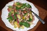 Tomato Salad with Sizzled Chorizo Vinaigrette