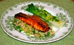 Sticky Teriyaki Salmon Rice