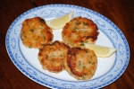 Two-Potato Fish Cakes with Parsley Sauce