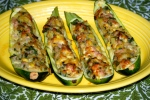 Sausage and Herb Stuffed Courgettes