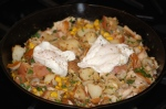 Smoked Trout and Corn Hash