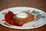 Toasted Banana Bread with Vanilla Ricotta and Raspberries
