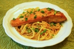 Salmon with Sesame, Soy, and Ginger Noodles