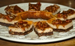 Spiced Maple and Pecan Cheesecake Bars