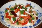 Minty Roast Veg and Hummus Salad