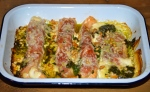 Prosciutto and Pesto Fish Gratin