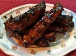 Oven Roasted Aromatic Ribs with a Bourbon and Orange Glaze