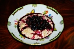 Porridge with Blueberry Compote