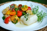 Thyme Roast Cod and Panzanella Salad