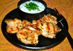 Chicken with Green Yogurt Sauce