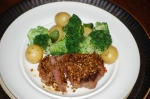 Spiced Steak with Lemony Potatoes and Broccoli