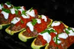 Spiced Lamb Courgette Boats
