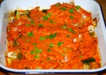 Baked Cod in a Creamy Red Pepper Sauce