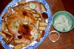 Quick Roast Chicken and Homemade Oven Chips with Kiev Butter