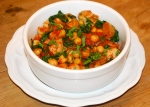 Quick Sausage Casserole with Tomato and Chick Peas