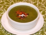 Creamy Lentil and Asparagus Soup with Bacon