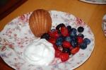 Summer Berries with Sweet Wine Cream