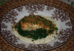 Brown Butter-Poached Halibut with Celeriac Puree