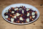 Stir-Fried Red Cabbage with Walnuts and Stilton