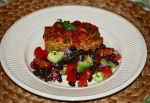 Sticky Baked Meatloaf with Avocado and Black Bean Salsa